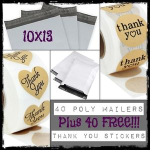 40 Poly Mailers & 40 FREE Stickers